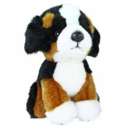 Pluszowy berneński pies pasterski, w pozycji siedzącej, 18 cm