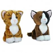 Plyšová kočka sedící, 18 cm, 2 druhy