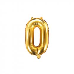 balónek nafukovací číslo 0, 35 cm fóliový