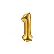 balónek nafukovací číslo 1, 35 cm fóliový