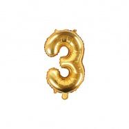 balónek nafukovací číslo 3, 35 cm fóliový