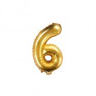 balónek nafukovací číslo 6, 35 cm fóliový