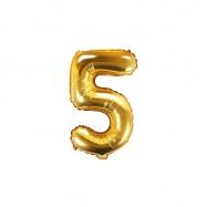 balónek nafukovací číslo 5, 35 cm fóliový
