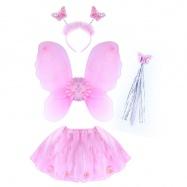Karnevalový kostým kvetinka s krídlami, 4 ks