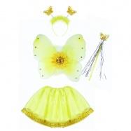 Karnevalový kostým slunečnice s křídly, 4 ks