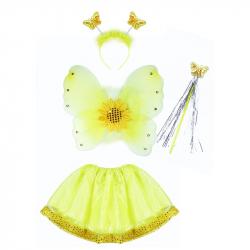 Karnevalový kostým slnečnice s krídlami, 4 ks