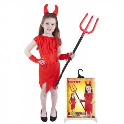 Karnevalový kostým čertica červená, veľ. S