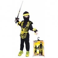 Karnevalový kostým NINJA černo-žlutý, vel. S