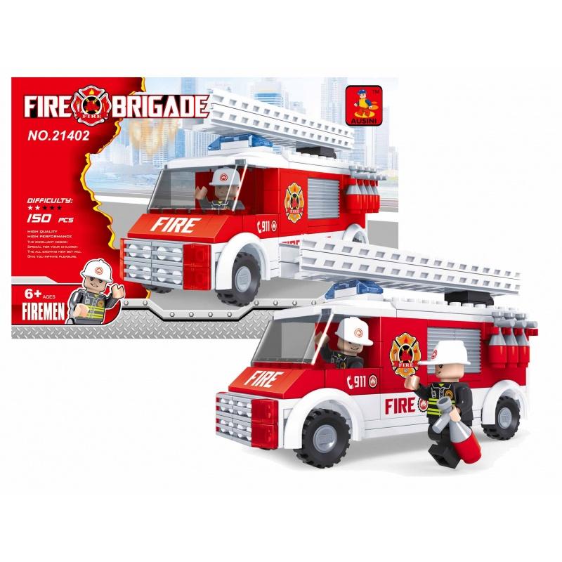 Stavebnice AUSINI hasiči auto, 150 dílů