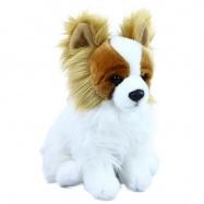 Plyšový pes čivava sedící, 23 cm
