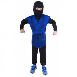 Kostium dziecięcy NINJA niebieski (S)