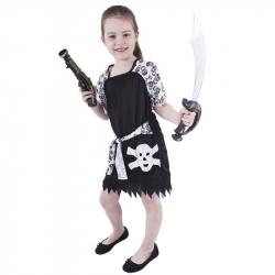 karnevalový kostým pirátky s lebkou, veľ. S