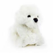Pluszowy pies Biszon, siedzący, 28 cm