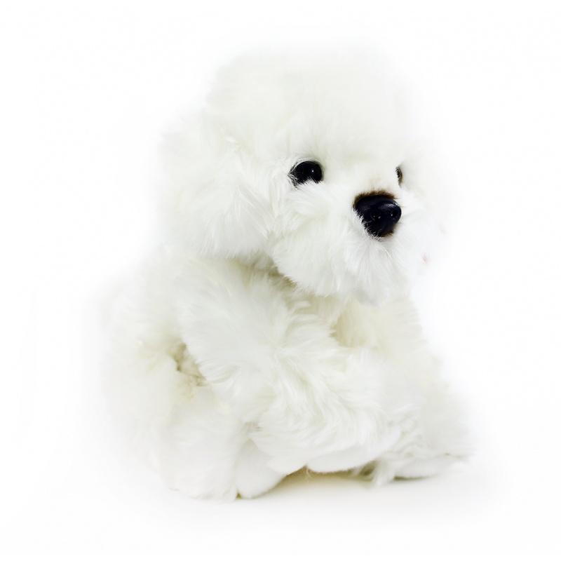plyšový pes bišon 28 cm sedící