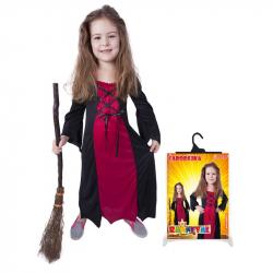 Karnevalový kostým čarodejnice / halloween bordó, veľ. S