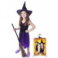 Karnevalový kostým čarodejnice / halloween s klobúkom, veľ. M