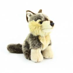 plyšový vlk sedící, 18 cm