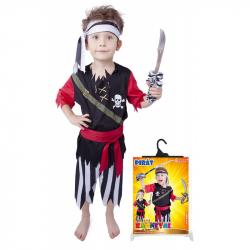 Karnevalový kostým pirát s šatkou vel. S