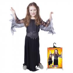 Karnevalový kostým čarodejnice / halloween čierna, veľ. M