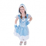 Karnevalový kostým princezna kožíšková zimní království, vel. S