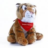 plyšový kočka valentýnská 30 cm se šátkem