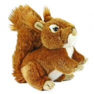 Plyšová veverička, 17cm