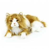 plyšová kočka perská ležící, 25 cm
