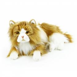 plyšová kočka perská ležící 35 cm