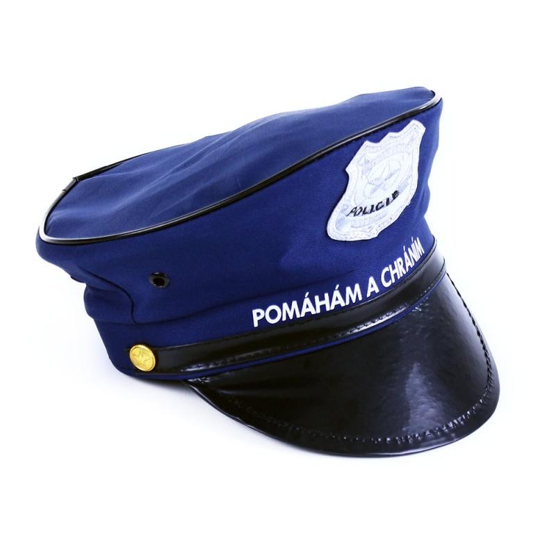 a54584981 Senzačný policajné čiapky pre malé policajtov! Tento parádny kúsok v tmavo  modrej farbe je navyše zdobený strieborným policajným odznakom.