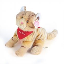 Pluszowy kot walentynkowy 28 cm z szalikiem
