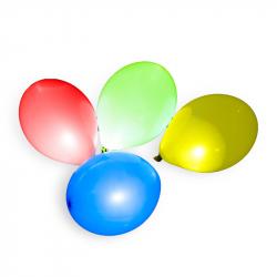 balónek nafukovací s LED světlem 27 cm 3+1 ks v sáčku