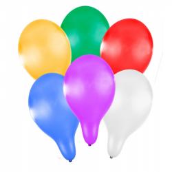 balónik nafukovacie 27 cm metalický 6 ks v sáčku
