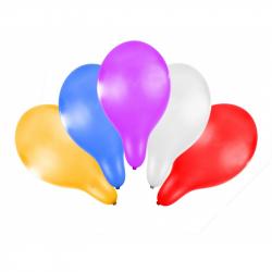 balónek nafukovací 30 cm metalický 5 ks v sáčku