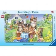 Ravensburger Sladké kočičky rámové 15 dílků