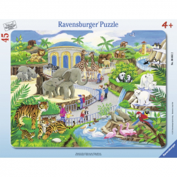 RAVENSBURGER Puzzle w ramce Wizyta w zoo, 45 elementów