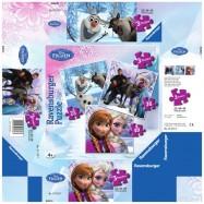 Puzzle 3w1 25+36+49 Kraina Lodu