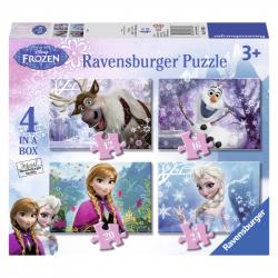 Ravensburger - Kraina Lodu Puzzle 4w1