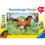 Ravensburger - Puzzle Świat Koni 2x24 elem.