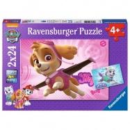 Ravensburger - Psi Patrol Skye i Everest Puzzle 2 x 24 elem.