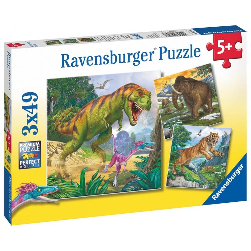 Dinosauři a čas 3x49 dílků