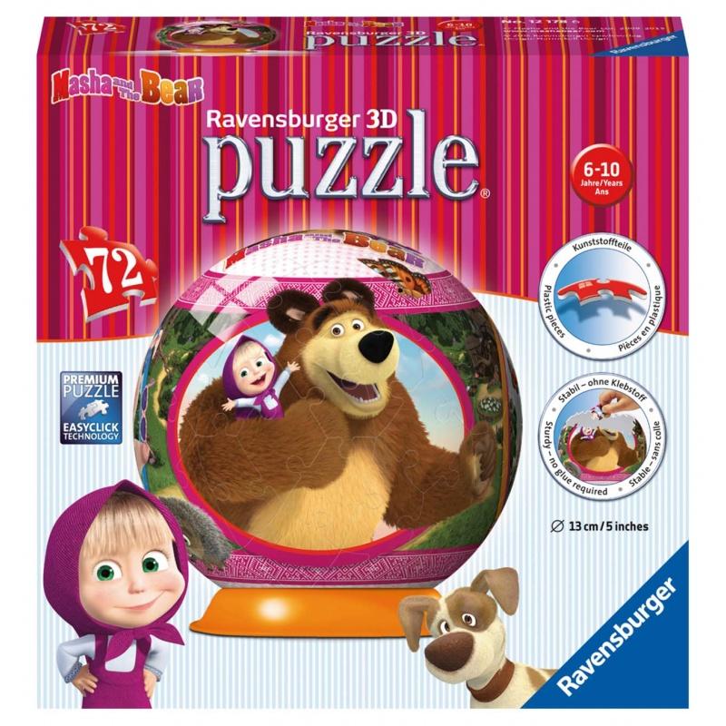Máša a Medvěd puzzleball 72d