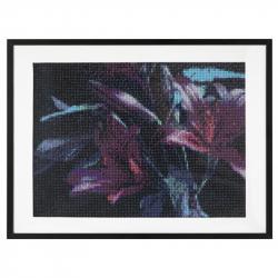 Malování pomocí kamínků Diamond - Květiny 30x40 cm
