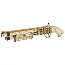 RoboTime 3D drevené mechanické puzzle Brokovnica Terminátor