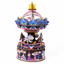 RoboTime 3D skladačka hracie skrinky Veselý kolotoč