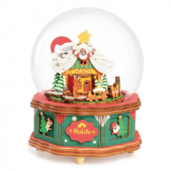 RoboTime 3D skladačka hracie skrinky Vianočný domček