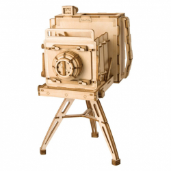 RoboTime drevené 3D puzzle Historický fotoaparát