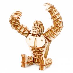 RoboTime drevené 3D puzzle Gorila