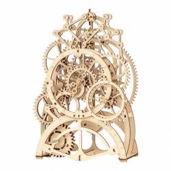 RoboTime 3D drevené mechanické puzzle Hodinový strojček