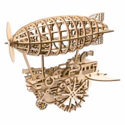 RoboTime 3D drevené mechanické puzzle Fantastická vzducholoď
