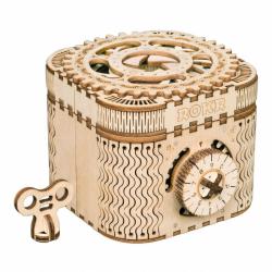 RoboTime 3D drevené mechanické puzzle Šperkovnica